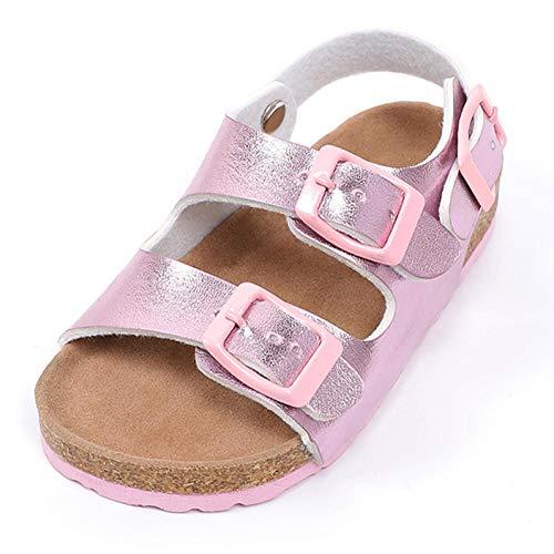 COQUI Slippers Hombre,Sandalias de Corcho para niños Niñas Moda Zapatos de Playa Zapatos Infantiles niños Suave Fondo Antideslizante-Rosa_veinticuatro