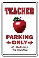教師駐車場の楽しい退職 金属板ブリキ看板警告サイン注意サイン表示パネル情報サイン金属安全サイン