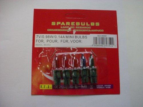 MRS CHRISTMAS 4 Multi Push in Spare Bulbs 7v 0.98w 0.14a (no 36)