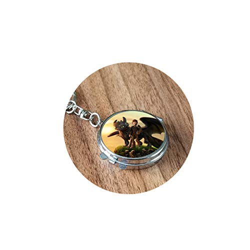 bab How to Train Your Dragon Necklace Movie Pendant Dragon Jewelry Glass Photo Cabochon Folding Mirror