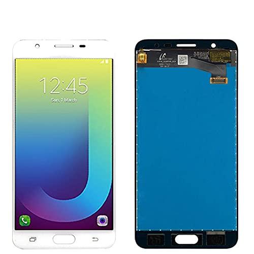 Pantallas LCD para teléfonos móviles 5.5 '' Pantalla táctil LCD G610 G610F G610M / FIT para Samsung Galaxy J7 Prime 2016 LCD (Color : Single Hole White)