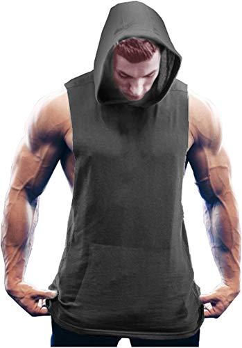 COOFANDY Men's Gym Vest Hoodie Sleeveless Gym Training T Shirt Workout...