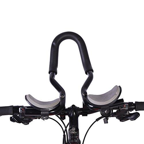 Appendice Manubrio Bici,VGEBY Bicicletta Aero Bar Bracciolo Manubrio Resto Manubrio Rilassamento Manubrio per Bici Da Corsa Mountain Bike
