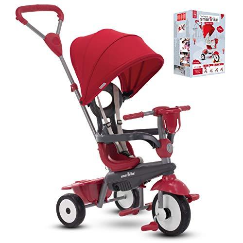 smarTrike Breeze Plus - Tricycle pour enfant - Tricycle réglable pour bébé, enfant de 15 mois à 3 ans (rouge)