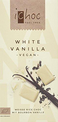 ichoc White Vanilla mit Bourbon Vanille vegan, 10er Pack (10 x 80 g)