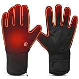 Heated Cycling Gloves Electric Battery Powered - Savior USB Rechargeable 7.4V 2200mAh Thin Motorcycle Gloves Men Women Cold Weather Biking Skiing Hiking Camping Hunting Working Hand Warmer (L)