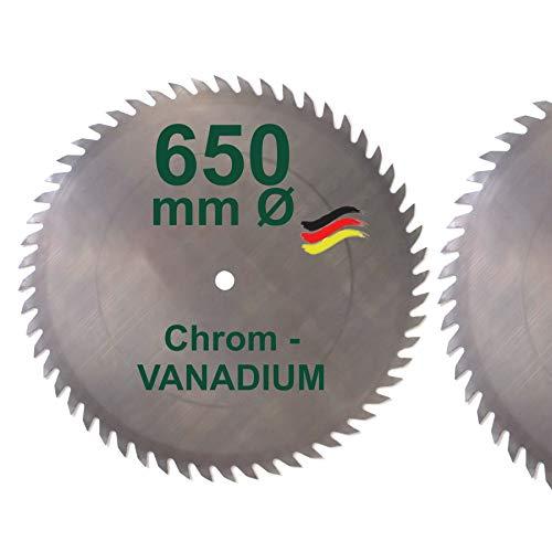 CV Sägeblatt 650 x 30 mm KV-A Wolfszahn Brennholzsägeblatt Kreissägeblatt Chromvanadium für Wippsäge und Brennholz 650mm