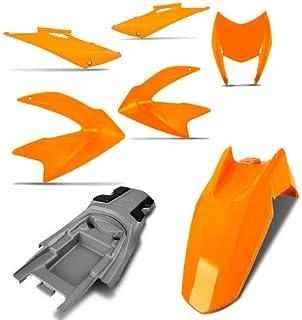Kit Carenagem Completa Nxr Bros 150 Laranja 2011 Pro Tork
