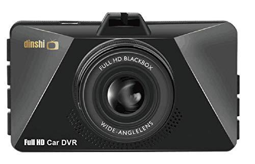 "Dinshi Carmate Dual Lens Dashboard Car Camera with 1080P Full HD 3"" LCD Screen 120° Wide Angle Lens Loop Recording Night Vision"