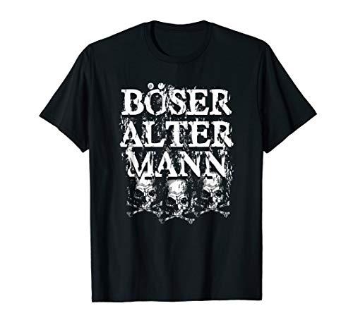 Herren Vintage Totenkopf | Alter Mann | Böser alter Mann T-Shirt