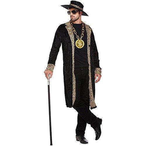 Pimp Kostüm (Schwarz) - One size