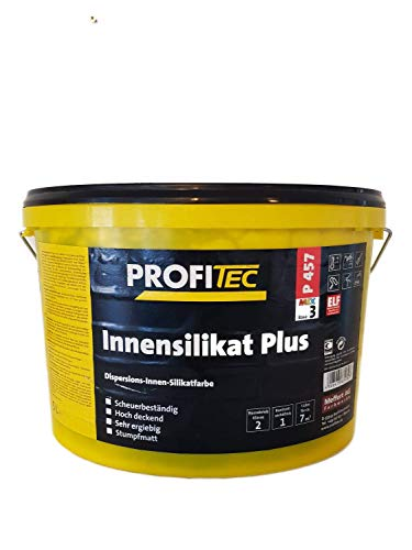 ProfiTec Innensilikat Plus Wandfarbe Stumpfmatt 5 Litter Farbwahl, Farbe:Silbergrau