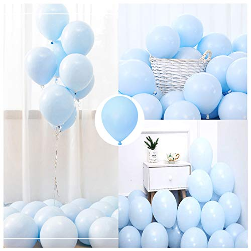Party Pastel Balloons 100 pcs 10 inch Macaron Candy Colored Latex Balloons for Birthday Wedding Engagement Anniversary Christmas Festival Picnic or any Friends & Family Party Decorations-pastel blue