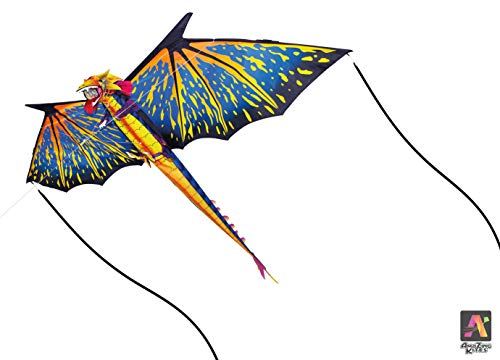 AmaZing Kites 3D Nylon Dragon Kite with 80