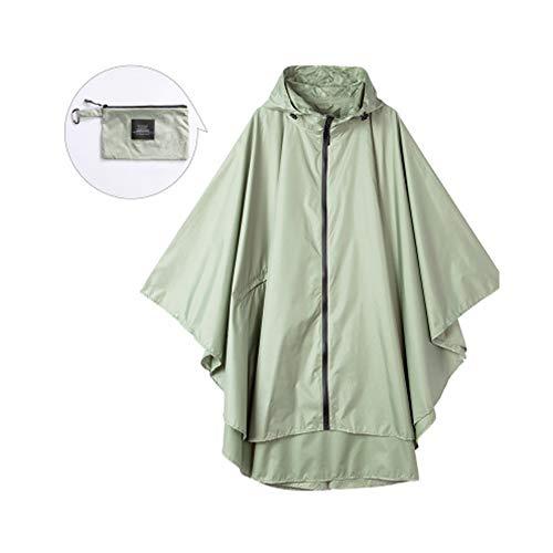 Poncho impermeable que se puede reutilizar ropa de lluvia a modo impermeable fino y seco abrigo impermeable para hombres y mujeres Poncho mochila bicicleta ropa de lluvia puede ser reutilizable., color, beige