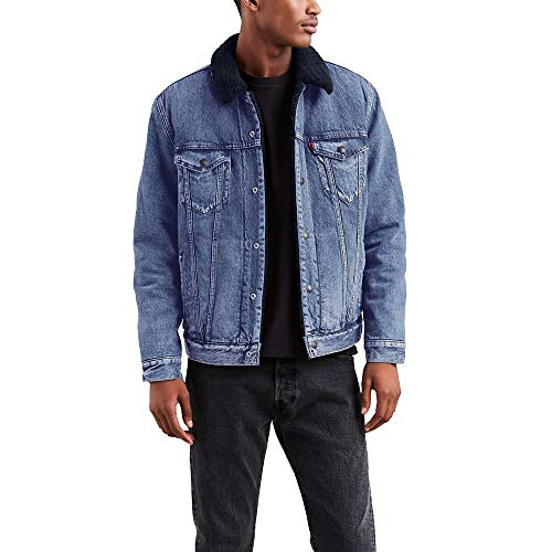 Levi's Men's Type Iii Sherpa Jacket, in The Navy, Large