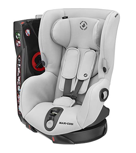 Maxi-Cosi Axiss Silla coche giratoria 90 grados y contramarcha grupo 1, silla auto bebé 9 meses- 4 años (9-18 kg), reclinable en múltiples posiciónes, color authentic grey