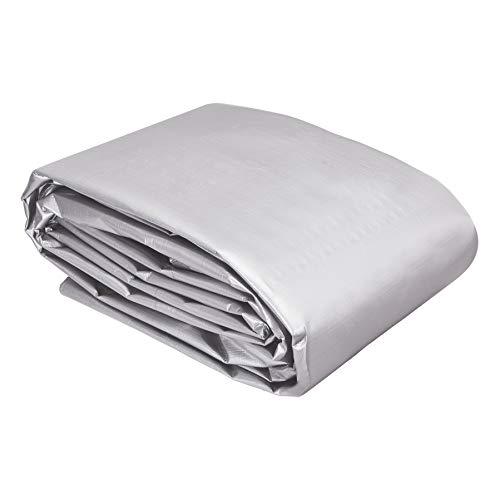 AmazonCommercial - Lona impermeable de poliéster multiusos, 6x6m, 0,4mm de espesor, plateado y negro, pack de 1unidad