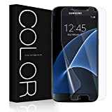 Galaxy S7 Screen Protector [Not Glass], G-Color [Full Coverage][Case Friendly][Error Proof][Bubble-Free][Anti-Scratch] HD Clear Screen Protector for Samsung Galaxy S7 (2 Pack)