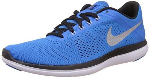 Nike Men's Flex 2016 Rn Running Shoe PHT Blue/Mtllc Slvr/Blk/White 8.5 D(M) US