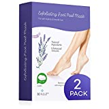 2 Pairs Foot Peel Mask Exfoliant for Soft Feet in 1-2 Weeks, Exfoliating Booties for Peeling Off Calluses & Dead Skin, For Men & Women Lavender by BEALUZ