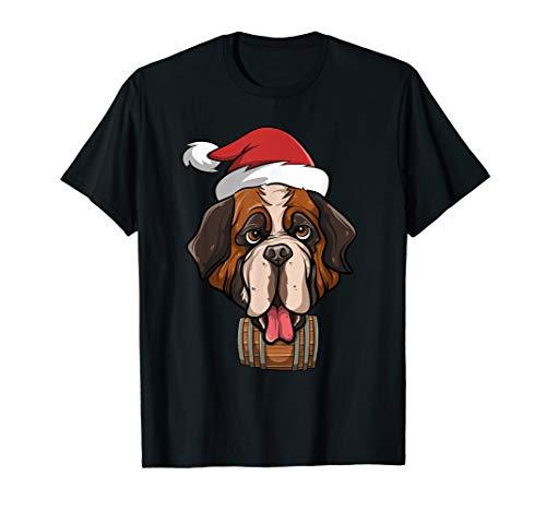 Bernhardiner - Weihnachten Rettungshund mit Fass Hunde T-Shirt