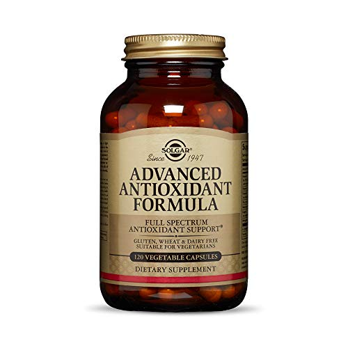 Solgar Advanced Antioxidant Formula, 120 Vegetable Caps - Full Spectrum Antioxidant Support - Contains Zinc, Vitamin C, E & A - Immune System Support - Vegan, Gluten Free, Dairy Free - 60 Servings
