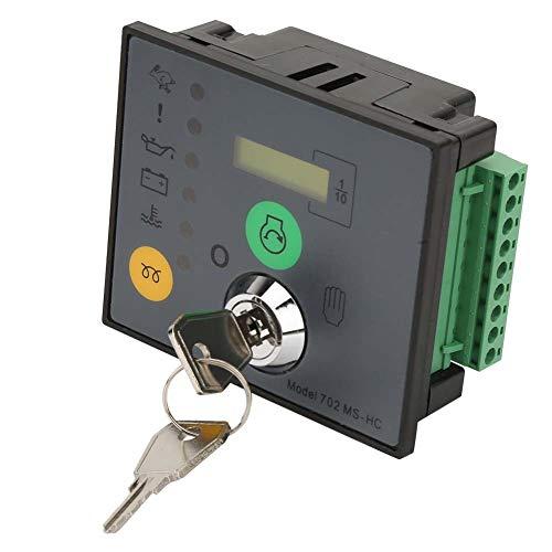 Asixxsix Controlador de generador, módulo de Control Módulo Controlador de generador de bajo Nivel de Ruido, módulo de Arranque Manual para generador de Arranque y Parada Manual del Motor