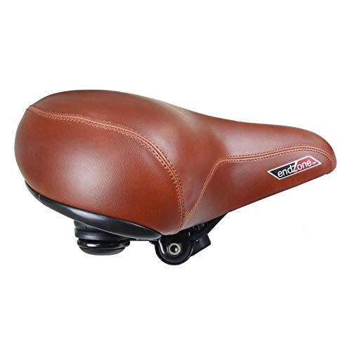 Cyclingdeal Super Comfortable Bike Seat Extra Wide Soft Padded Saddle For Women and Men with Suspension