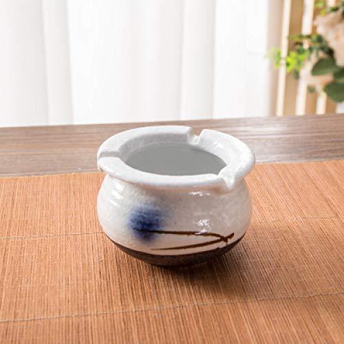 SHUNHUI Unterglasur Aschenbecher Im Japanischen Stil Handbemalte Blau-Weiße Keramik Mit Waschbecken Aschenbecher Wohnzimmer Büro Persönlichkeit Kreative Geschenkdekoration Vatertagsgeschenk