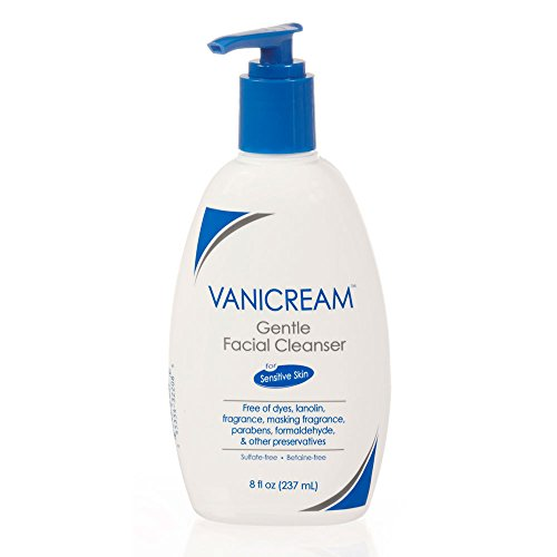 Vanicream Gentle Facial Cleanser with Pump Dispenser | Fragrance, Gluten and Sulfate Free | For Sensitive Skin | 8 Fl Oz