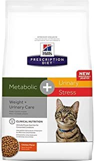 Hill's Prescription Diet Metabolic + Urinary Stress Weight + Urinary Care Chicken Flavor Dry Cat Food 6.35 lb