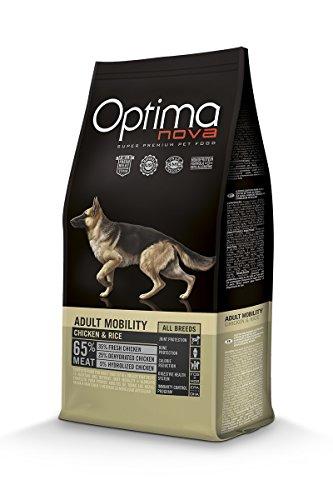Optimanova Super Premium Hundefutter Adult Mobility - Trockenfutter Hähnchen und Reis – 12 kg - hypoallergen – 40 % Frischfleisch – kleine Hunderassen - Mittlere Hunderassen - große Hunderassen