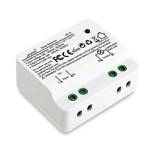 Didikit Interruptor WiFi 15A 3300W, Mando a Distancia por Teléfono para Luz, Control Remoto Inalámbrico por la Aplicación Smart Life, Control por Voz, Funciona con Alexa Echo y Google Home