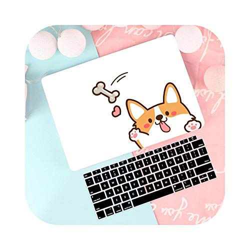 Laptop Case Cover For Macbook Air 13 A1932 2019 Retina Pro 13 15' Touch Bar A2159 A1706 A1708 A1707 Keyboard Cover-Cute Dog-Pro 13 2019 A2159