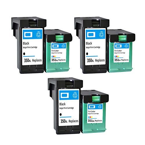 Cartucho de tinta remanufacturado de alto rendimiento para HP350XL 351XL, para impresora HP D4200 J5370 J5700 6400 3 sets