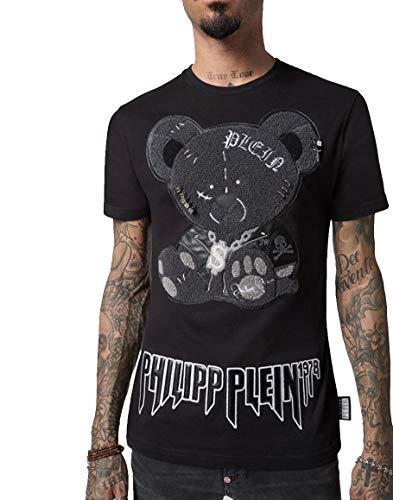 Philipp Plein - Camiseta - Redondo - Manga Corta - para hombre Negro Negro ( S