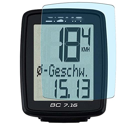 Vaxson 3-Pack Anti Luce Blu TPU Pellicola Protettiva, compatibile con SIGMA BC 7.16 Wired Bicycle Computer, Screen Protector Film [Non Vetro Temperato Cover Custodia ]