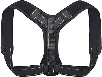 GBFX Soporte Trasero Corrector de Postura Seguro para Hombres/Mujeres - Elegante y Discreto enderezador ergonómico de la Espalda apoyada para Cuello/Espalda Superior/Hombro para aliviar el Dolor