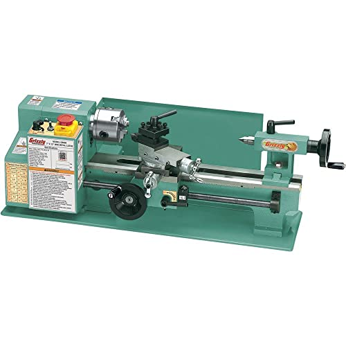 """Grizzly Industrial G8688-7"""" x 12"""" Mini Metal Lathe"""