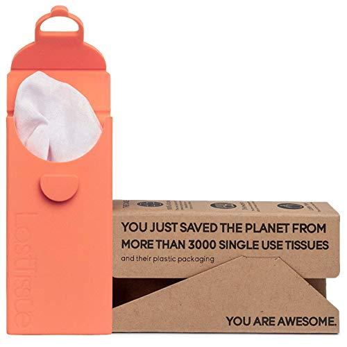 LastTissue Taschentücher Box Von LastObject - Umweltfreundlich - Wiederverwendbare Bio Taschentücher aus Baum-wolle - Entworfen in Dänemark - Zero Waste Weiche Kosmetiktücher - Nachhaltige Produckte