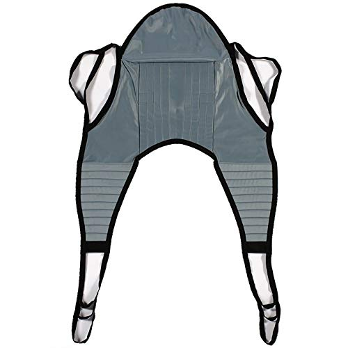 Patient Aid Padded U-Sling with Head Support, Universal Patient Lift...
