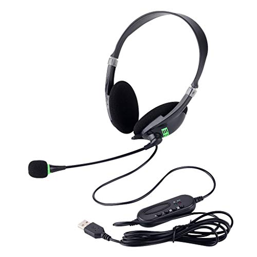 LOVIVER USB Lightweight Headset with Noise Cancelling Microphone for Office Business PC