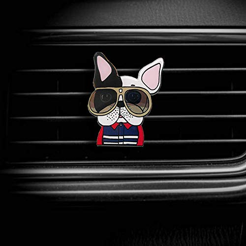Dorakaka Air Vent Decoration - Cute Acrylic Puppy Dogs Decorative Vent Clip for Cars, Bedroom or Office [French Bulldog III]