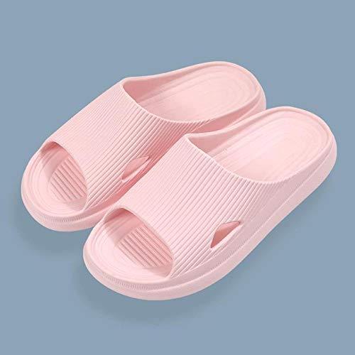quming Chanclas Piscina Sandalia Antideslizante,Zapatillas de Plataforma Antideslizantes en el baño, Sandalias Suaves para Verano-Light Pink_39-40