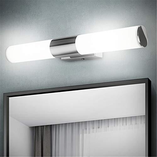 Albrillo LED Spiegelleuchte Badezimmer - 12W Bad Spiegellampe 42cm, 1000 Lumen Badlampe aus Edelstahl und PC, Kaltweißes 6000K und kein Flackern, Wasserdicht IP44 für Spiegel als Make-up Licht