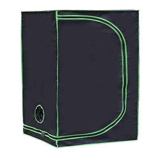 Rapid Teck® Grow Zelt (120 x 60 x 180 cm) Home Grow Tent | Indoor Growzelt | schwarz grün | Growroom Growschrank Darkroom Pflanzenzelt Gewächshaus Zuchtzelt Growzelt