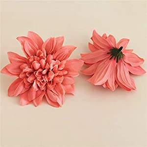 Artificial and Dried Flower 20PCS/lot Big Artificial Dahlia Peony Flower Head 10CM Dia Silk Flower Wedding Flowers Wall Floral Party Home Decorative – ( Color: A8 )