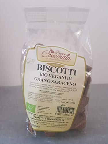Biscotti vegani bio di grano saraceno - Senza latte, uova, zucchero, burro e margarina - 1 confezione da 250gr