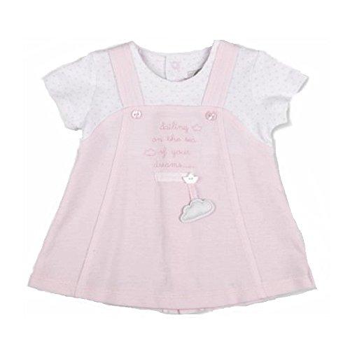 Tutto Piccolo - Vestido - trapecio - Manga corta - para bebé niña rosa rosa 3 Meses